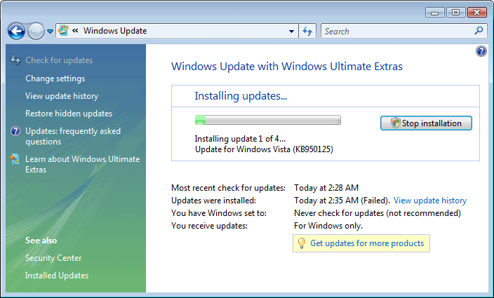 are there any updates for windows vista