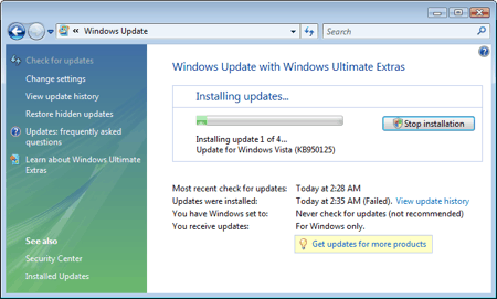 windows vista update manager