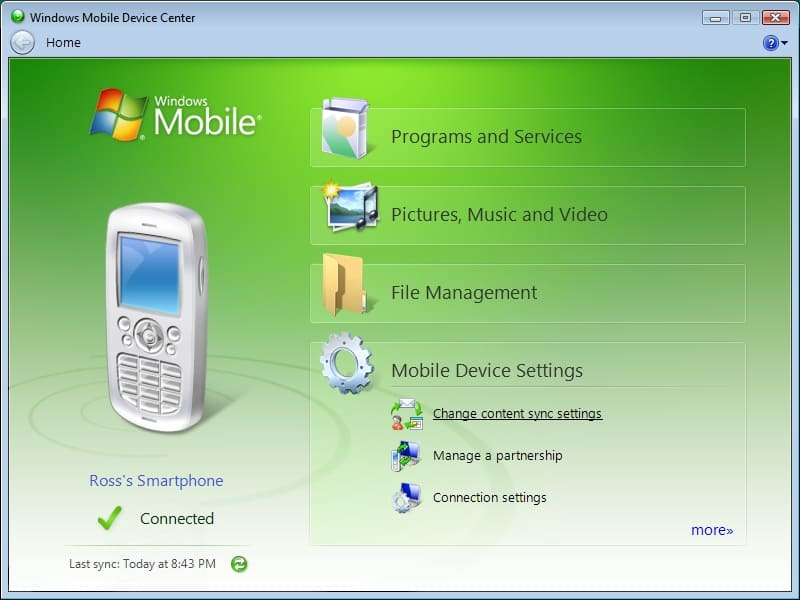 How to sync your Windows Mobile device to a Windows Vista PC ...