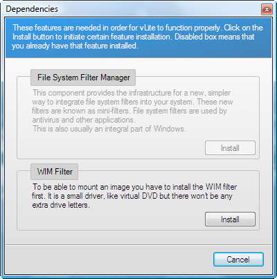 WIM Filter ( Needed for vLite ) utorrent