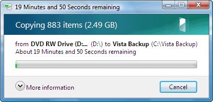 vlite copying vista to your hard drive