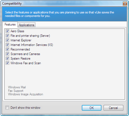 compatibility section of vlite