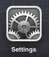 idevice Settings button