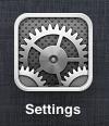 botón de configuración de idevice