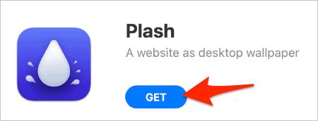 install the Plash app in macOS