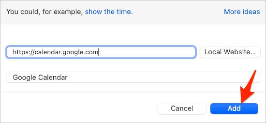 adding Google Calendar as a desktop background on a Mac via Plash app