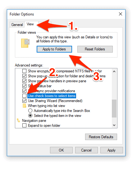 How to Remove the Check Box from Windows 10 Icons