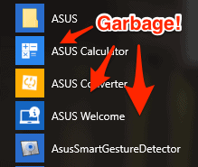 useless software on a new pc
