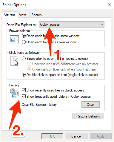 How to Customize The Windows 10 File Manager Quick Access Menu
