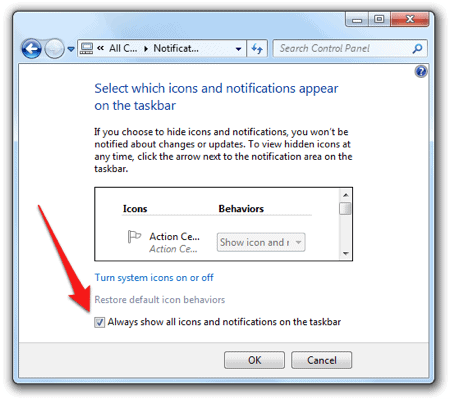 windows 7 notification settings