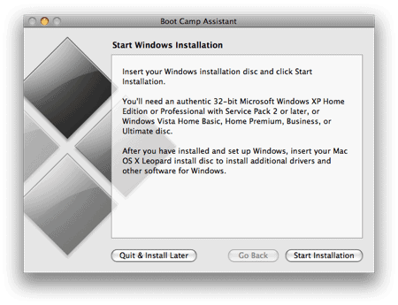 Using Boot Camp to install Windows 7 on your Mac: The