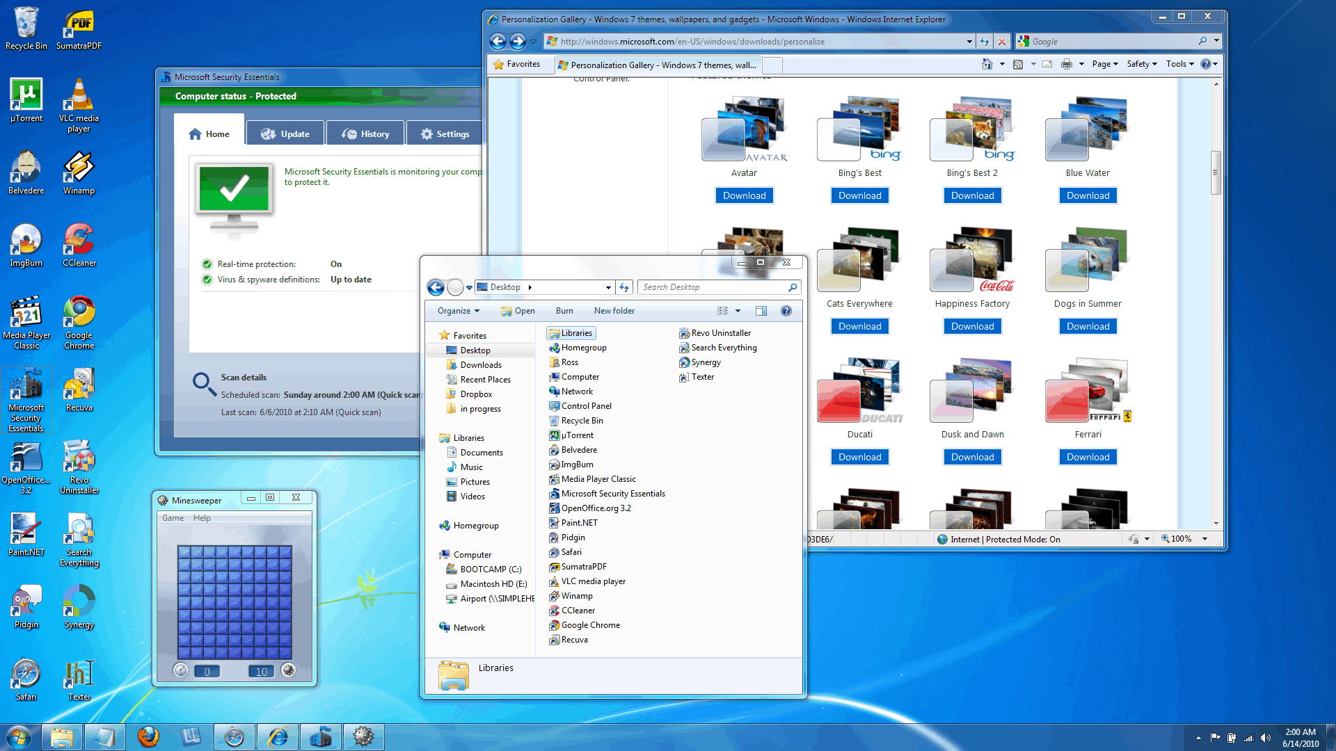 Theme In Windows 7 Click To Enlarge