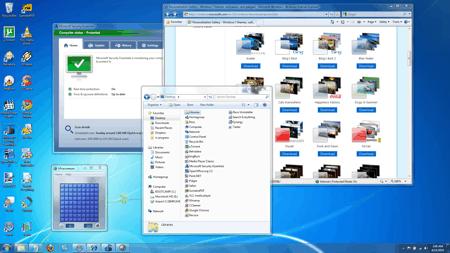 default Windows 7 desktop theme