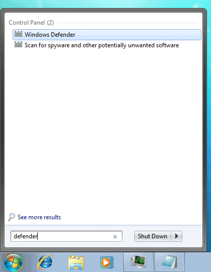 how to disable windows defender in windows 7