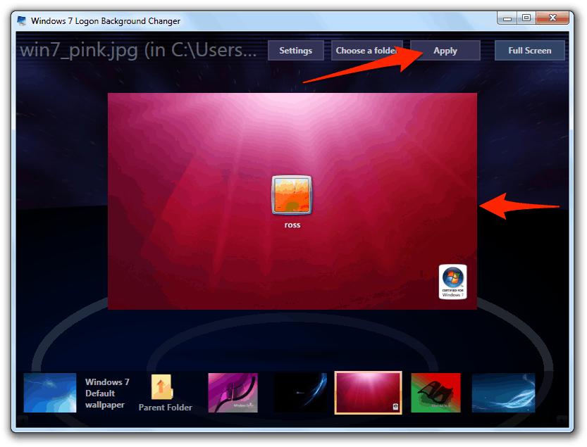 how to change windows login screen windows 7