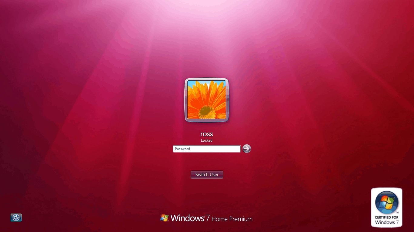 How to easily change the windows 7 login for Screen new window