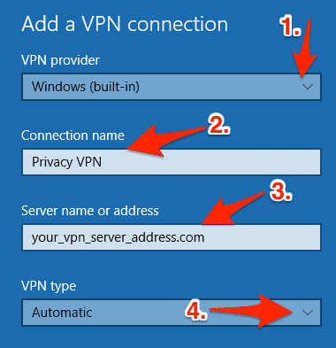 Use computer as vpn server
