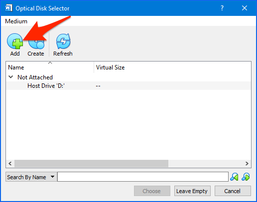 agregando un disco de inicio a VirtualBox