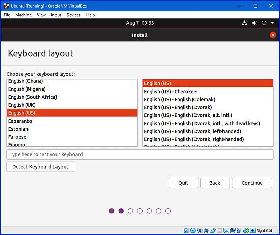 elegir una distribución de teclado para Ubuntu