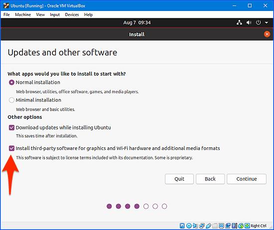 opciones de instalación para Ubuntu en Windows