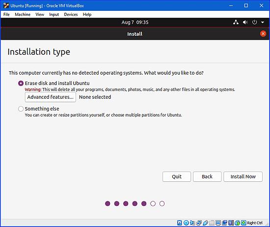 formatear una unidad virtual en una máquina virtual de Ubuntu