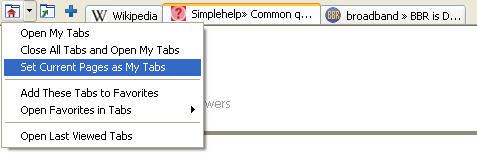 Windows Live Toolbar set of tabs