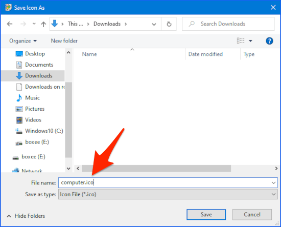 extract and save icons in Windows