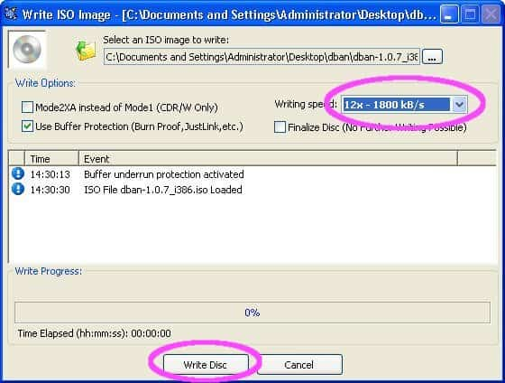 How to write iso file to cd in xp