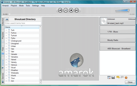 amarok running in windows