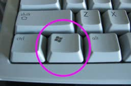 the windows key on your keyboard