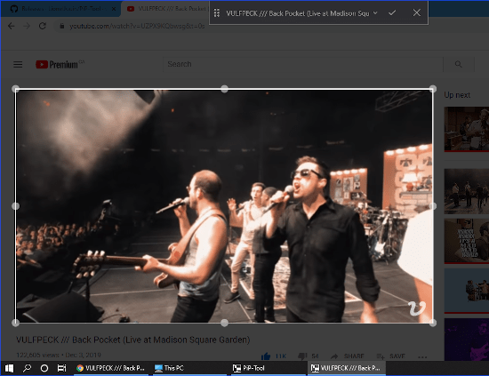 beep tool to select video from vlc