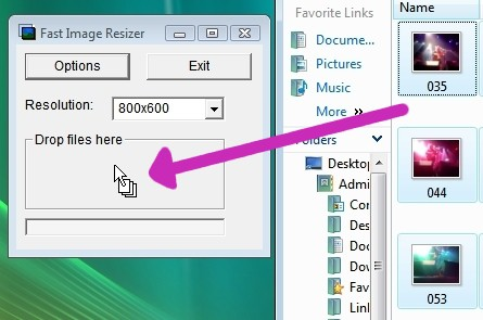 resizing pictures in windows