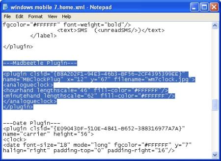 windows notepad editing an xml file