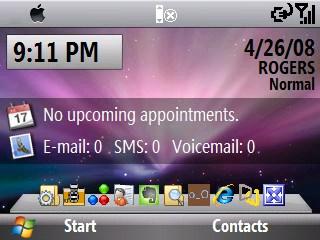 OS X Leopard skin for Windows Mobile Smartphones