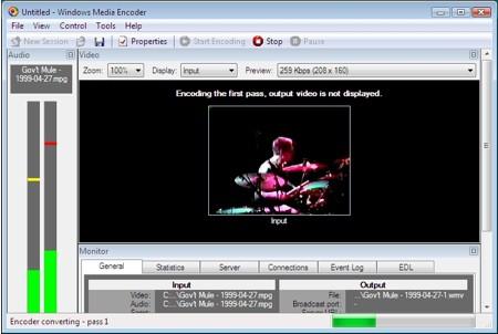 encoding windows media video for pocket pcs and windows mobile