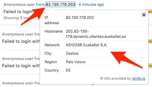 detailed IP info in WordPress