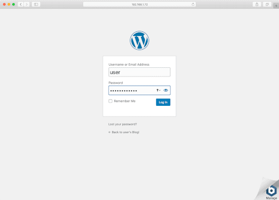 sign into wordpress in windows or macOS