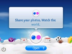 upload to flickr widget of yahoo go