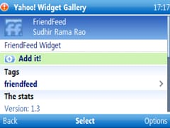 friendfeed yahoo go widget being added