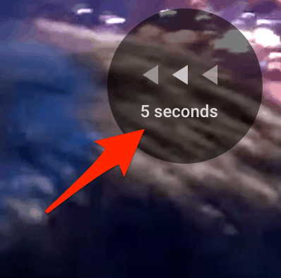 skip backwards in YouTube by 5 seconds
