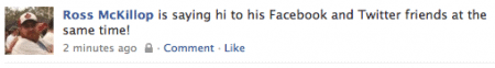 facebook status from twitter