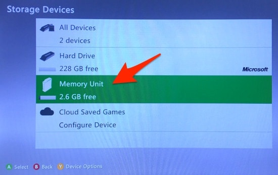 The Xbox 360 Storage Devices Memory Unit