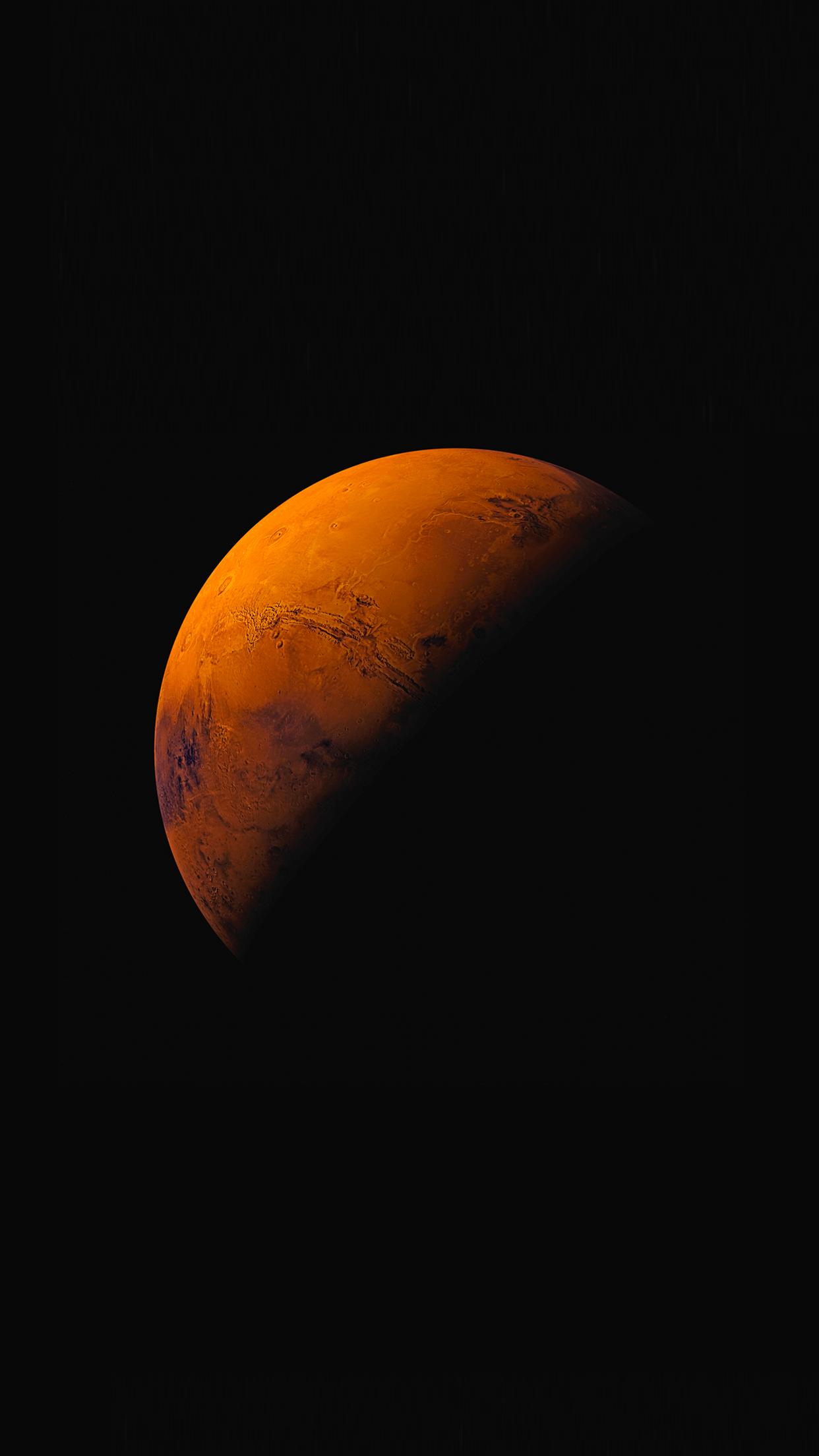 IOS 9 Orange Moon Wallpaper