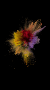 iOS 9 paint explosion number 1 wallpaper
