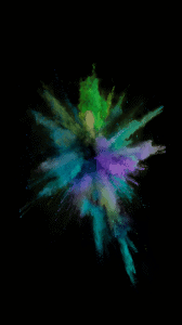 iOS 9 paint explosion number 3 wallpaper