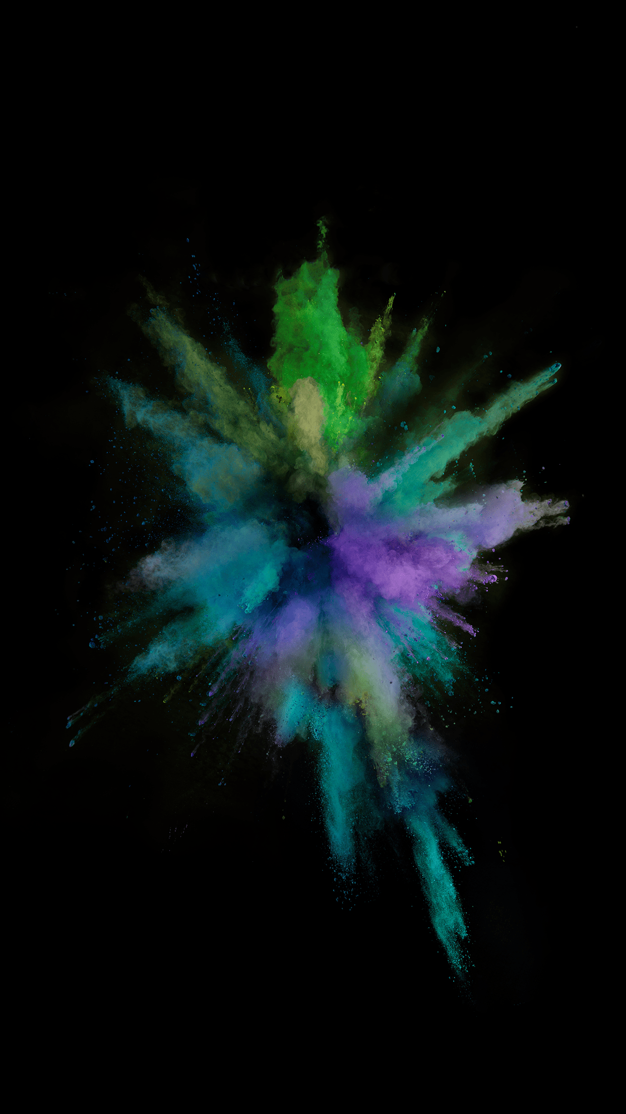 ... IOS 9 Paint Explosion Number 3 Wallpaper