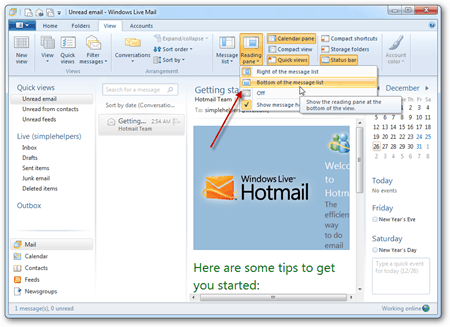 verizon net mail setting: