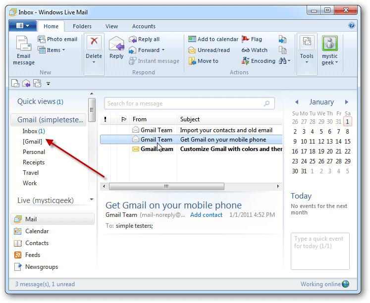 How to Add a Gmail Account to Windows Live Mail 2011 ...