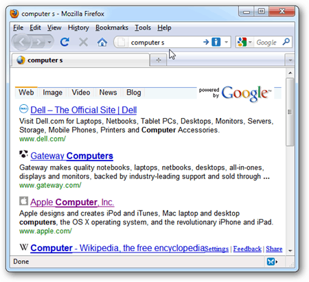 how to set firefox to open new tab to google