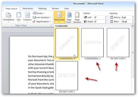 how to add a background to a word document 2010
